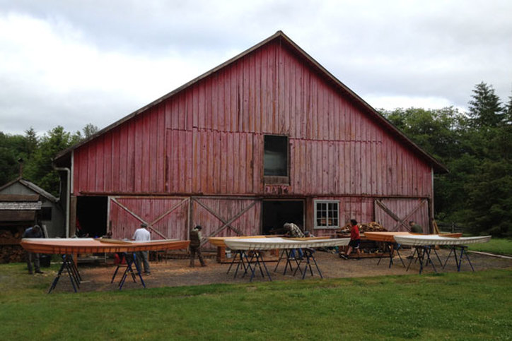 the Cape Falcon Kayak barn