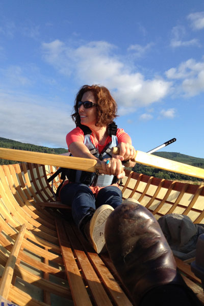 rowing the skin on frame adirondack guideboat