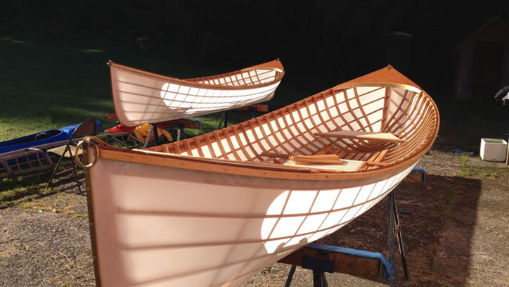 skin on frame adirondack guideboat