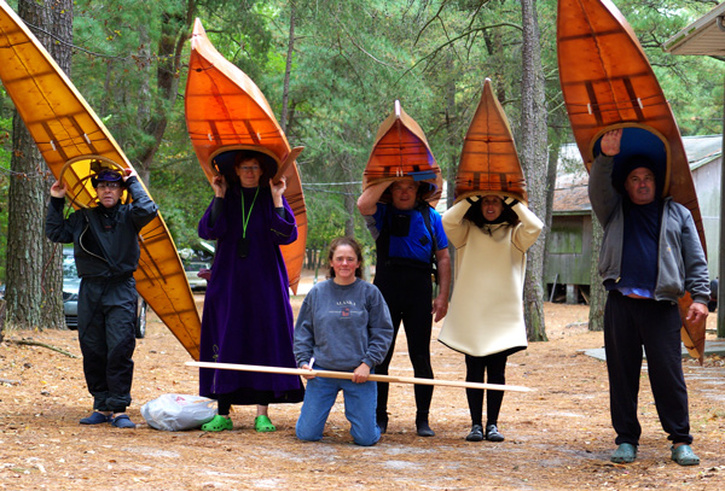 cape falcon kayak building class at Delmarva