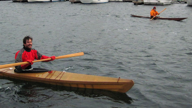 Paddling a Cape Falcon F1