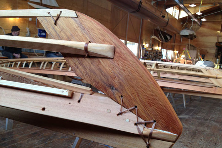 Teaching Kayak building at the Northwest Maritime Center