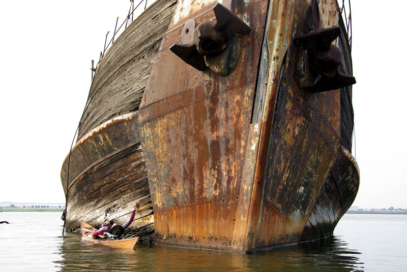 kayaking a ship graveyard