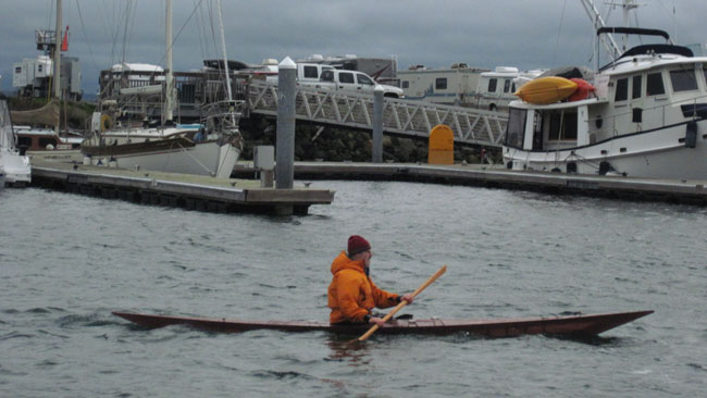 Paddling a Cape Falcon Greenland kayak