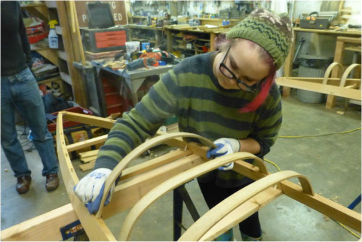 Skin on frame kayak building